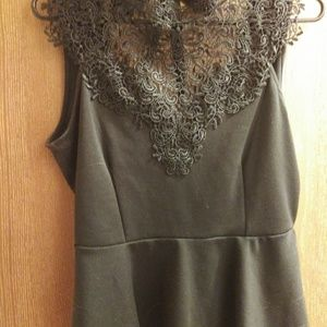 EXPRESS BLACK TOP WITH LACE